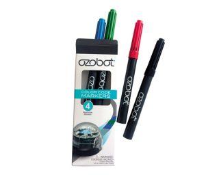 Pochette de 4 feutres Ozobot (Bleu, Vert, Rouge, Noir)