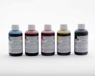 Pack de 5 teintures 25 cl, couleurs de base pour plastiques, résines