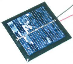 CEL-2V160MA Cellule solaire 60x60 sortie fils spéciale moteur solaire MOTD21SOLA