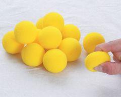 BAL-MOU-JA-D40-12 Lot de 12 balles en mousse Ø40 mm - Jaune