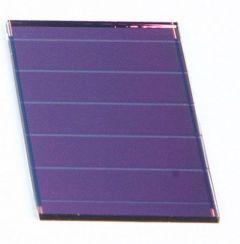 Cellule solaire Si amorphe - 48x32mm, 3 bdes, 18mA/1,5V @1kW/m²
