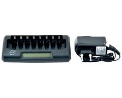 Chargeur accu NiMH/NiCd - 10 x AA ou 10 x AAA et 2 x PP3