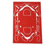 Châssis usiné pour HexaTec PVCEX 3x195x295 Rouge