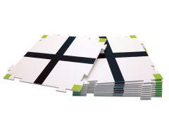 Puzzle croisement - taille L 180 x 180mm (Lot de 10)
