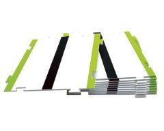 Piste ligne droite - taille L 180 x 180mm (Lot de 10)