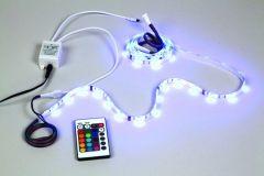 Kit avec flexible LED et contrôleur-RVB-60 LED ruban de 2 m-12VCC