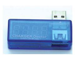 Voltmètre/ampèremetre USB affichage 7 segments